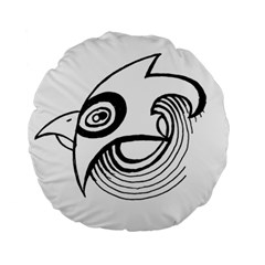 Bird Standard 15  Premium Round Cushions by ValentinaDesign