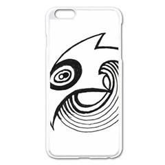 Bird Apple Iphone 6 Plus/6s Plus Enamel White Case by ValentinaDesign