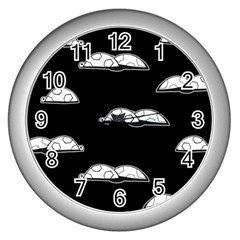 Turtle Wall Clocks (silver)  by ValentinaDesign