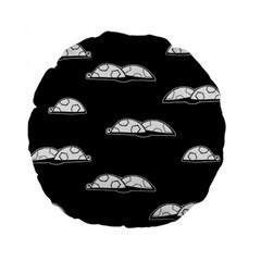 Turtle Standard 15  Premium Flano Round Cushions by ValentinaDesign