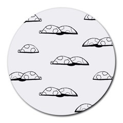 Turtle Round Mousepads by ValentinaDesign