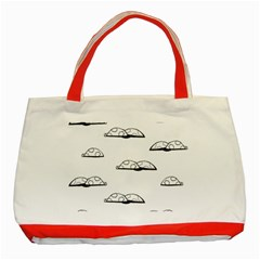 Turtle Classic Tote Bag (red) by ValentinaDesign