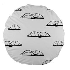Turtle Large 18  Premium Round Cushions by ValentinaDesign