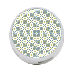 Vivid Check Geometric Pattern 4 Port Usb Hub (one Side) by dflcprints