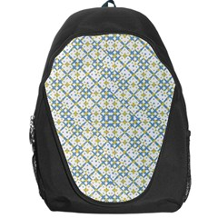 Vivid Check Geometric Pattern Backpack Bag by dflcprints