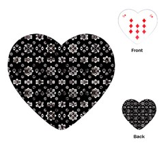 Dark Luxury Baroque Pattern Playing Cards (heart)  by dflcprints