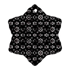 Dark Luxury Baroque Pattern Ornament (snowflake) by dflcprints