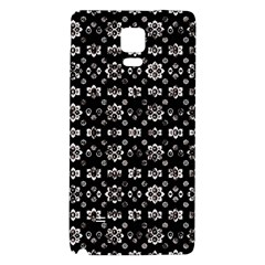 Dark Luxury Baroque Pattern Galaxy Note 4 Back Case by dflcprints