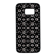 Dark Luxury Baroque Pattern Samsung Galaxy S7 Black Seamless Case by dflcprints