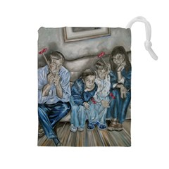 The Nobodies Drawstring Pouches (large)  by redmaidenart