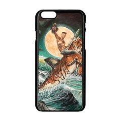 Tiger Shark Apple Iphone 6/6s Black Enamel Case by redmaidenart