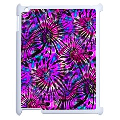 Purple Tie Dye Madness  Apple Ipad 2 Case (white) by KirstenStar