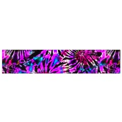 Purple Tie Dye Madness  Small Flano Scarf by KirstenStar