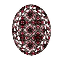 Oriental Ornate Pattern Oval Filigree Ornament (two Sides) by dflcprints