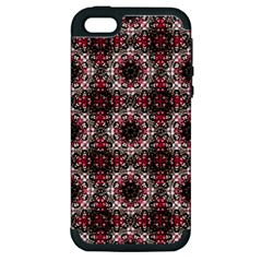 Oriental Ornate Pattern Apple Iphone 5 Hardshell Case (pc+silicone) by dflcprints