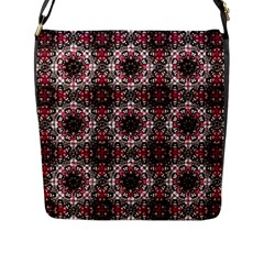 Oriental Ornate Pattern Flap Messenger Bag (l)  by dflcprints
