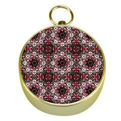Oriental Ornate Pattern Gold Compasses by dflcprints
