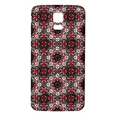Oriental Ornate Pattern Samsung Galaxy S5 Back Case (white) by dflcprints