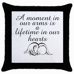 Amomentinourarms Black Throw Pillow Case by amomentinourarms