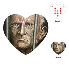 Old Man Imprisoned Playing Cards (heart)  by redmaidenart