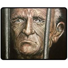 Old Man Imprisoned Fleece Blanket (medium)  by redmaidenart