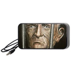 Old Man Imprisoned Portable Speaker by redmaidenart