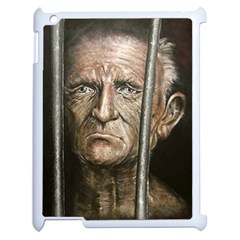 Old Man Imprisoned Apple Ipad 2 Case (white) by redmaidenart