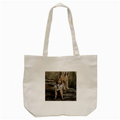 An Old Friend Tote Bag (cream) by redmaidenart