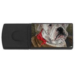 Dog Portrait Rectangular Usb Flash Drive by redmaidenart