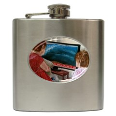 Breaking News Hip Flask (6 Oz) by redmaidenart