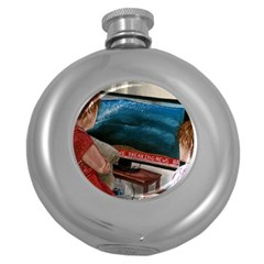 Breaking News Round Hip Flask (5 Oz) by redmaidenart