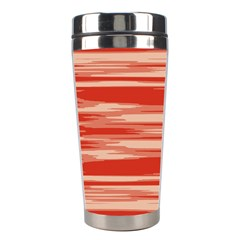 Abstract Linear Minimal Pattern Stainless Steel Travel Tumblers by dflcprints