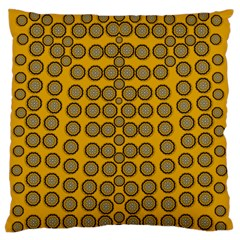 Stars And Wooden Flowers In Blooming Time Large Flano Cushion Case (two Sides) by pepitasart