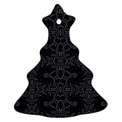 Dark Ethnic Sharp Pattern Ornament (christmas Tree)  by dflcprints