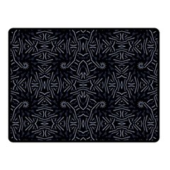 Dark Ethnic Sharp Pattern Double Sided Fleece Blanket (small)  by dflcprints