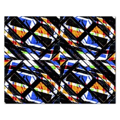 Multicolor Geometric Abstract Pattern Rectangular Jigsaw Puzzl by dflcprints