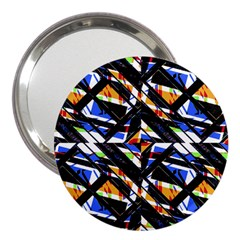 Multicolor Geometric Abstract Pattern 3  Handbag Mirrors by dflcprints