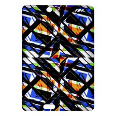 Multicolor Geometric Abstract Pattern Amazon Kindle Fire Hd (2013) Hardshell Case by dflcprints