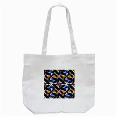 Multicolor Geometric Abstract Pattern Tote Bag (white) by dflcprints