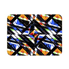 Multicolor Geometric Abstract Pattern Double Sided Flano Blanket (mini)  by dflcprints