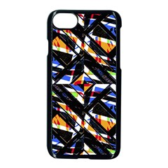 Multicolor Geometric Abstract Pattern Apple Iphone 7 Seamless Case (black) by dflcprints