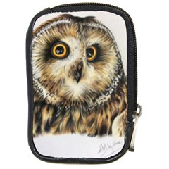 Owl Gifts Compact Camera Leather Case by ArtByThree