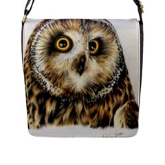 Owl Gifts Flap Closure Messenger Bag (l) by ArtByThree