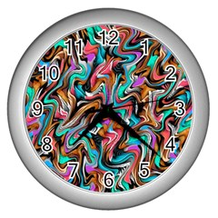 5 4 1 9 Wall Clocks (silver)