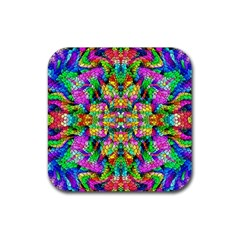 Pattern 854 Rubber Coaster (square)  by ArtworkByPatrick