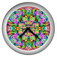 Pattern 854 Wall Clocks (silver)  by ArtworkByPatrick