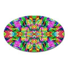 Pattern 854 Oval Magnet by ArtworkByPatrick