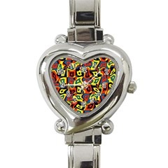 Pattern 3 Heart Italian Charm Watch