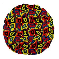 Pattern 3 Large 18  Premium Flano Round Cushions