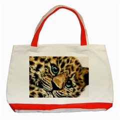 Jaguar Cub Classic Tote Bag (red) by ArtByThree